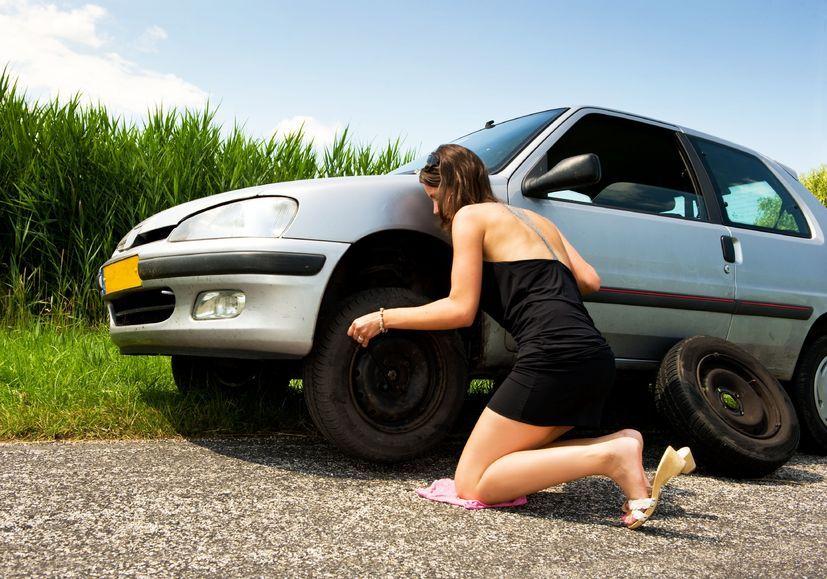 guía cambio rueda del coche