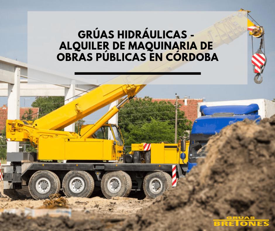 alquiler de maquinaria para obras públicas en Córdoba